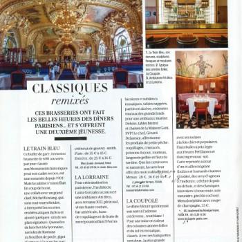 """La Lorraine fait partie des """"brasseries qui ont fait les belles heures des dîners parisiens...et s'offrent une deuxième jeunesse"""